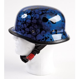 Blue Skulls German Helmet