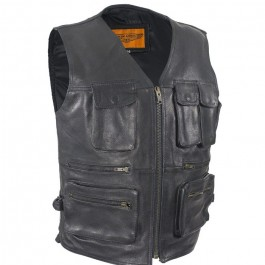 11 Pocket Premium Motorcycle Vest